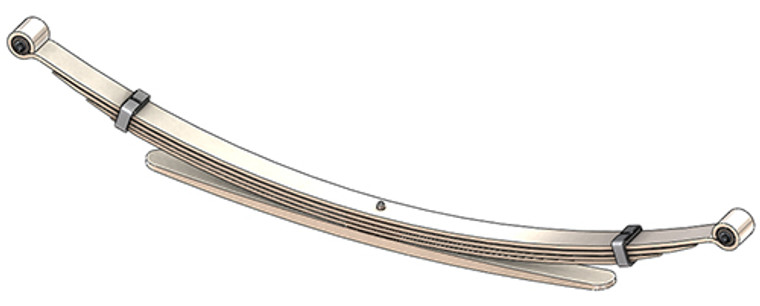 1988 - 1998 Chevy Silverado / GMC Sierra 1500 / 2500 rear leaf spring, 2025 lbs capacity - 5(4/1) leaves