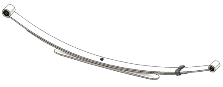 1982 - 1994 S10 / S15 / S10 Blazer / S15 Jimmy rear leaf spring, 3 leaves, 1100 lbs capacity