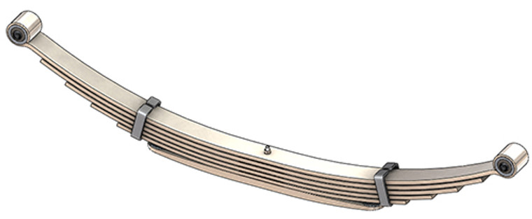 1992 - 1996 GM G30 / G3500 Van rear leaf spring, 2850 lbs capacity, 6(5/1) leaves