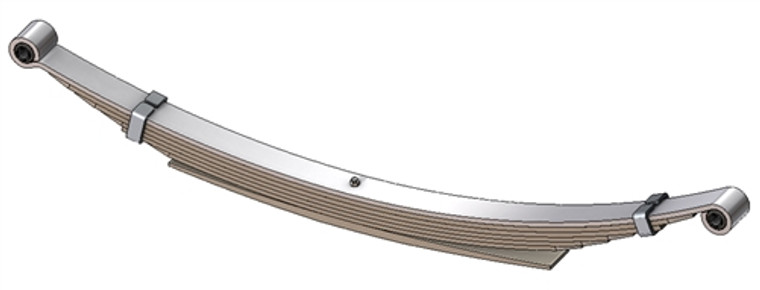 "1973 - 1993 Dodge pickup rear leaf spring with 3/4"" eye, 9(8/1) leaves, 4000 lbs capacity"