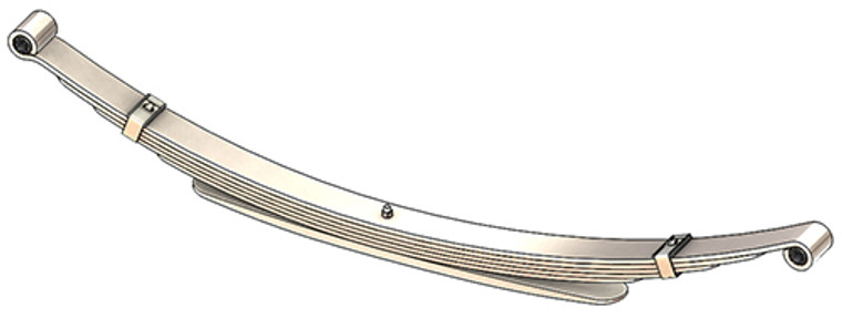 """1973 - 1993 Dodge Pickup, Ramcharger, Trail Duster rear leaf spring with 5/8"""" eyes, 6(5/1) leaves, 2500 lbs capacity"""
