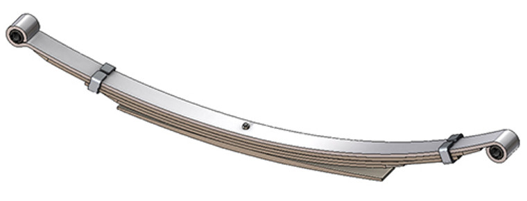 "1973 - 1993 Dodge Pickup, Ramcharger, Trail Duster rear leaf spring with 5/8"" eye, 5(4/1) leaves, 1700 lbs capacity"