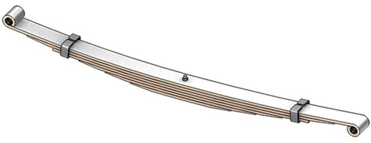 1973 - 1991 Dodge 4x4 front leaf spring, 6 leaves, 1900 lbs capacity
