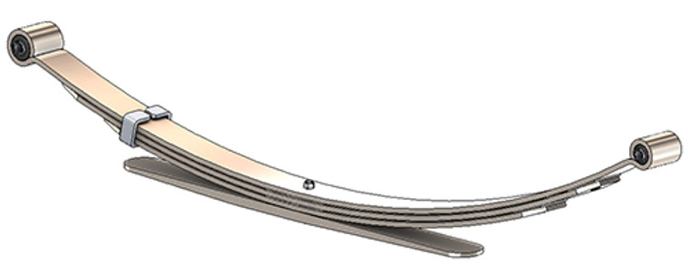 1992 - 2006 Ford E150 rear leaf spring, 4(3/1) leaves, 1685 lbs capacity