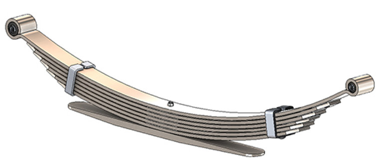 1992 - 2015 Ford E250 / E350, 2007 - 2015 E150 rear leaf spring, 7(6/1) leaves, 3750 lbs capacity