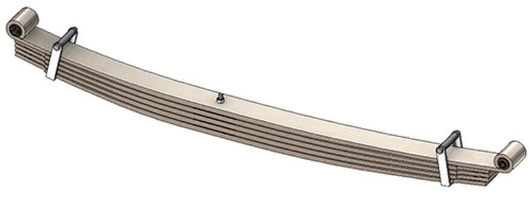 96-98 E Super Duty / 99-06 E450 rear leaf springs, full taper 5 leaf, 5100 lb capacity