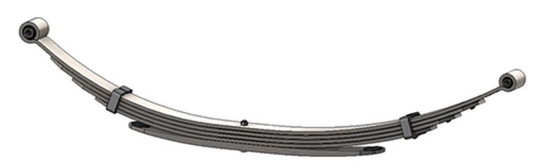 1997 - 2003 Ford F150, F250 under 8500 GVW rear leaf spring, 5(4/1) leaves, 2200 lbs capacity