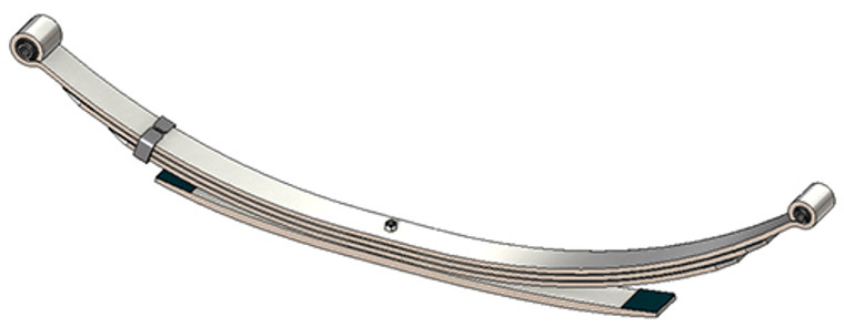 1997 - 2003 Ford F150, F250 under 8500 GVW rear leaf spring, 4(3/1) leaves, 1900 lbs capacity