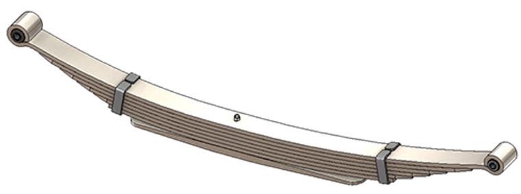 1980 - 1997 F250, F350 rear leaf spring, 7(6/1) leaf, 4295 lbs capacity