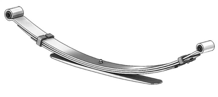 1998 - 2004 Nissan Frontier 4x4 heavy duty rear leaf spring, 4(3/1) leaf