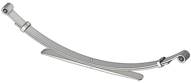 2002 - 2004 Nissan Xterra 6 cylinder rear leaf spring, 3(2/1) leaf