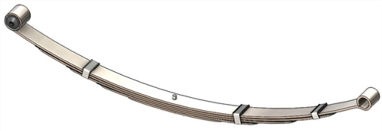 "1968 - 1972 Dart, Valiant rear leaf spring with 1/2"" front eye bolt, 5 leaf"