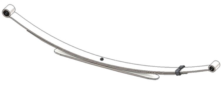 2005 - 2011 Toyota Tacoma 2 Wheel Drive (Except Prerunner) Driver Side rear leaf spring, 3(2/1) leaves