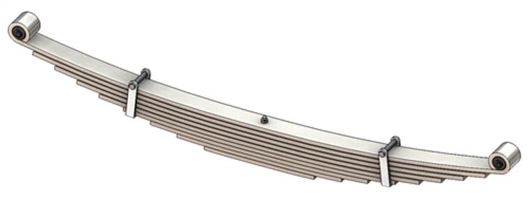 1996- 2018 GM G2500 / G3500 Savanna / Express Van rear leaf spring, 4600 lbs capacity, 9 leaves