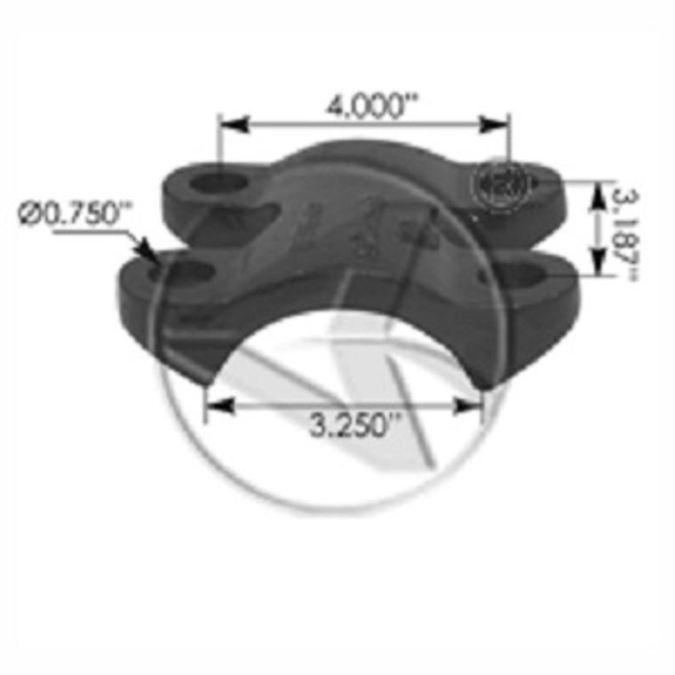 60-72 Chevy Bottom U-bolt plate