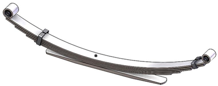 1999 - 2007 Ford Super Duty rear leaf spring, 6(5/1) leaves, 3600 lbs capacity