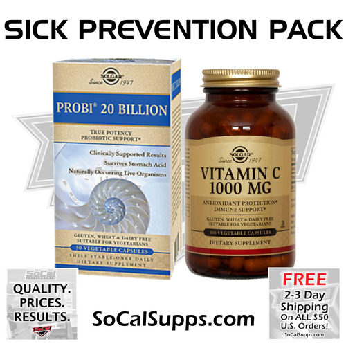 PROBI 20 & VITAMIN C 1000: Sick Prevention Pack