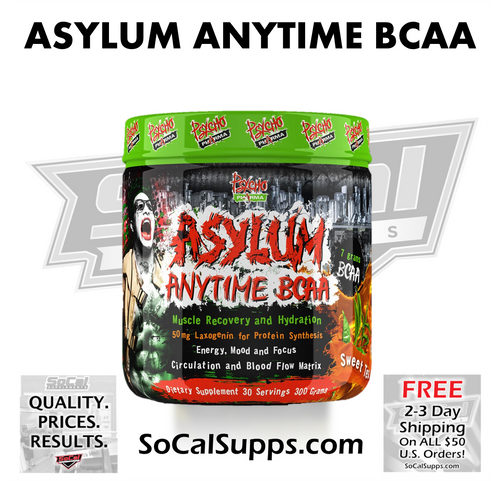 Asylum Anytime BCAA with Laxogenin