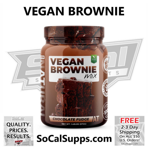 VEGAN PROTEIN BROWNIE MIX: Delicious Brownie Mix