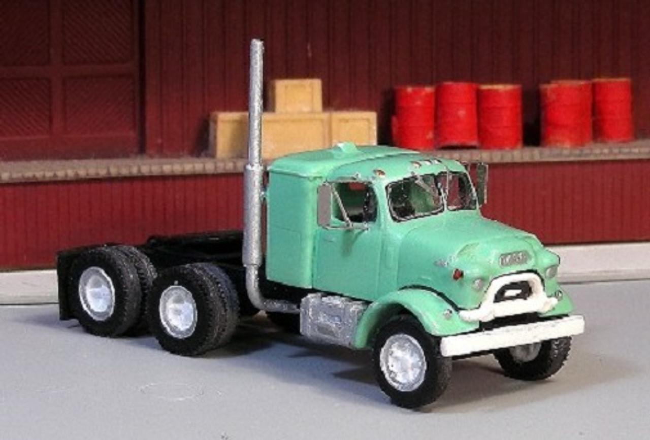Ho 1 87 Sylvan Scale Models V 185 1958 62 Gmc 860 Tandem Axle Sleeper Cab Kit Truck Stop Hobbies 1 87