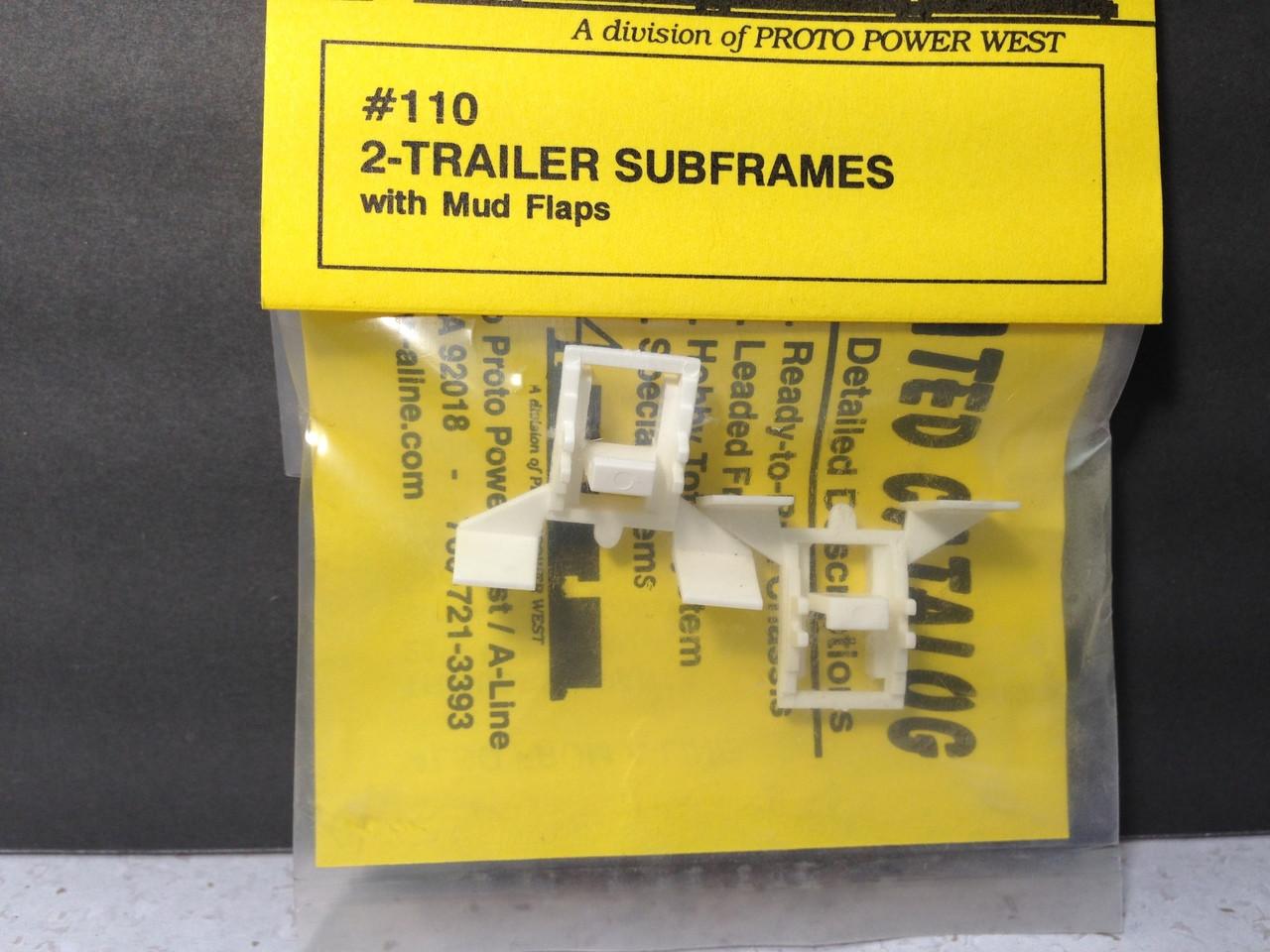 16 pcs. HO 1:87 A-Line # 50118 Trailer /& Tractor Plastic Mud Flaps