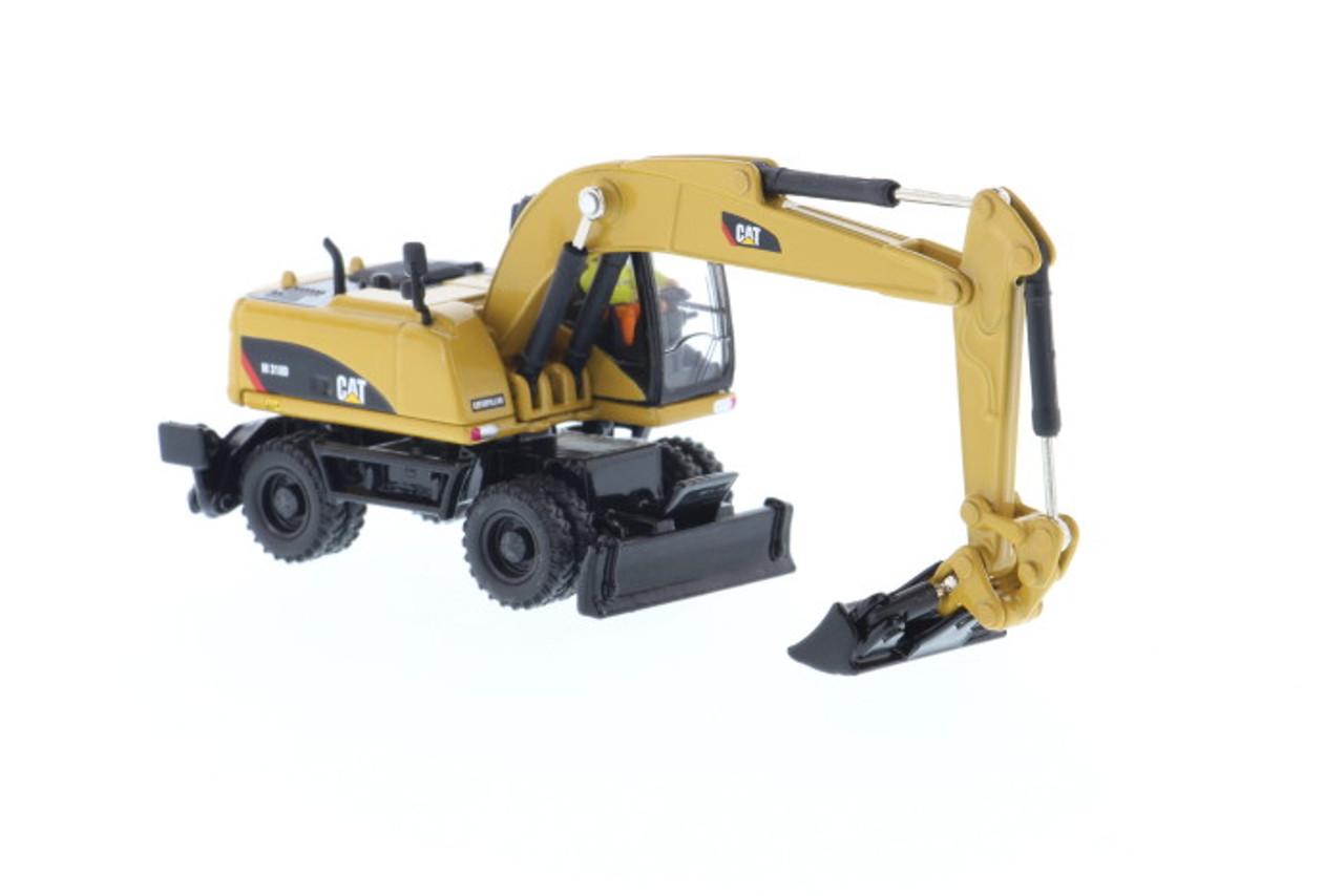 Caterpillar Miniature 1:87 Diecast 627G Scraper Yellow Engineering Vehicles Toy