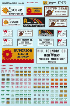 HO 1:87 Microscale 87-273 Industrial Signs Decals