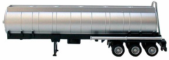 HO 1/87 Promotex # 5350 Round Chemical Tank Trailer 3-Axle - Silver