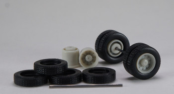 HO 1:87 Promotex # 54842 Budd Rear Axle Wheelset (2 pc.) Gray/Paintable
