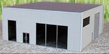 HO 1:87 Promotex # 6327  Modern Dealership Tilt-up Building Kit - Grey
