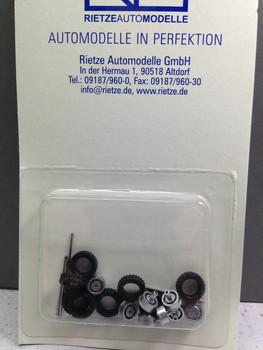 HO 1/87 Rietze Auto Modelle # 70203  All Terrain Tires 4 axles Silver Rim  11mm