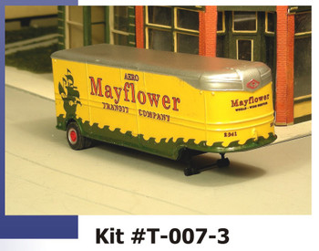 HO 1/87 Sylvan  # T-007-3 - 32' Fruehauf MAYFLOWER Moving VAN 41-46 Trailer KIT