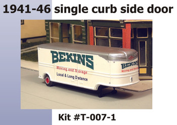 HO 1/87 Sylvan # T-007-1 - 32' Fruehauf BEKINS Moving Van 41-46 Trailer KIT