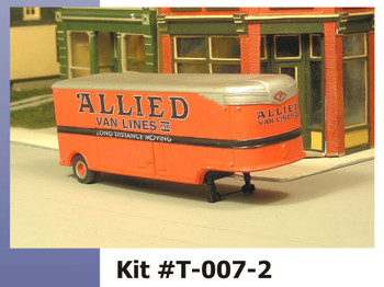 HO 1/87 Sylvan # T-007-2 - 32' Fruehauf ALLIED Moving Van 41-46 Trailer KIT