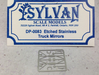 HO 1:87 Sylvan Scale Models # DP-0083 Etched Stainless Truck Mirrors
