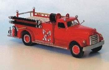 HO 1/87 Sylvan Scale Models # V-084 1950-53 GMC-LaFrance Pumper w/closed cab KIT