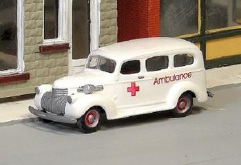 HO 1:87 Sylvan Scale Models # V-204 1941-47 Chevy Ambulance  KIT