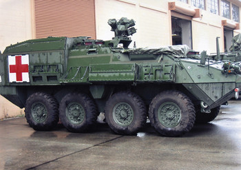 "HO 1:87 Trident # 87091 - ""Stryker"" ICV Armored M1133 Ambulance Medi-Vac KIT"