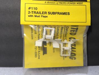 HO 1:87 A-Line # 110 Trailer Sub-frames w/mud flaps (2 pcs.)