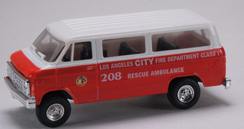 HO 1/87 Trident # 90174 Chevy Los Angeles Fire Department Van - Ambulance