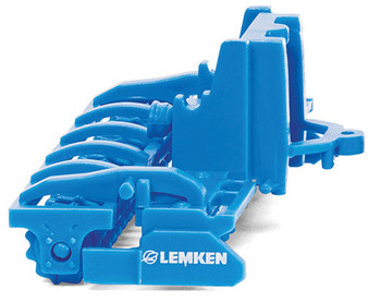 HO 1/87 Wiking # 37810 Lemken Zirkon 12 Power Harrow Farm Equipment - Blue