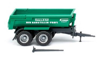 HO 1/87 Wiking # 38814 Krampe 20-Ton Half-Pipe Dump Trailer - Green, Black