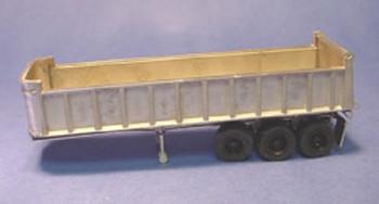 HO 1:87  Alloy Forms # 3110 Tri-Axle 30' Dump Trailer KIT