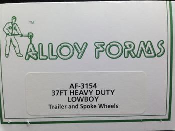 HO 1:87  Alloy Forms # 3154 Heavy Duty 37' Depressed Center Trailer Kit