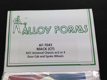 HO 1:87  Alloy Forms # 7043 Mack CF Fire truck 2 or 4 door kit