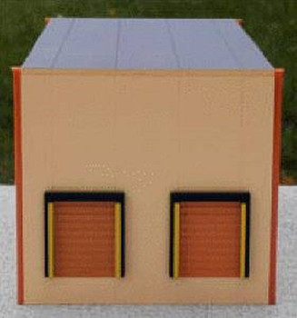 HO 1:87  Promotex # 6320 Warehouse Two-Bay Building Kit - Sand Color
