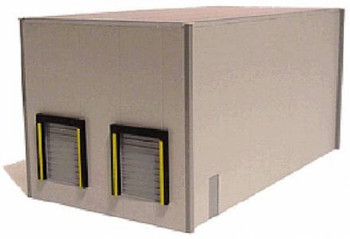HO 1:87  Promotex # 6321 Warehouse Two-Bay Building Kit - Gray Color