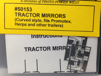 HO 1:87 A-Line # 50153 Curved Lower Arm Tractor Mirrors