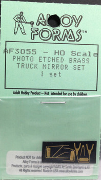 HO 1:87 Alloy Forms # 3055 Mirror Set (Photo Etched Brass) for DM/RM-800 Mack