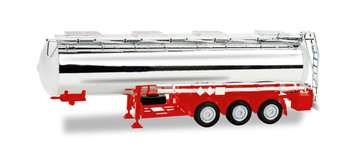HO 1:87 Herpa # 76456-002 - 3-Axle Chrome Tank Trailer - Feldbinder